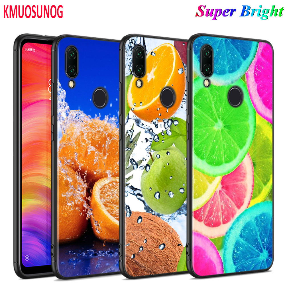 Black Silicone Cover Summer Fruit For Xiaomi Redmi Note 8 7 6 5 4X 4 K20 Pro 7A 6A 6 S2 5A Plus Phone Case