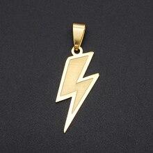 3pcs/lot 13x30 Stainless Steel Lightning Hip Hop Pendant Wholesale Men's Necklace Pendant Never Tarnish