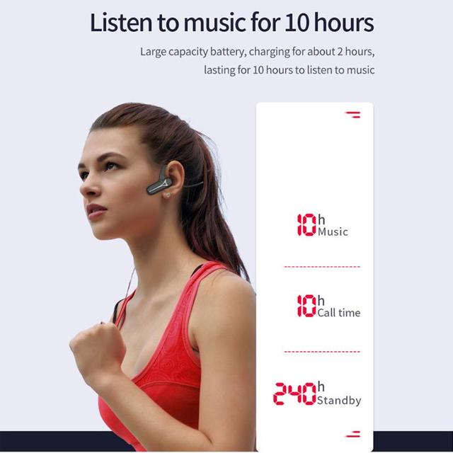 TWS блютуз наушн Bluetooth 5.0 Bone Conduction Earphones Waterproof Fitness Headset Portable Audio and Video Equipment for Sport 3