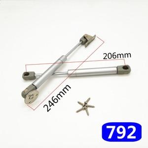 Image 2 - Bisagra para muebles de 8 pulgadas, 30N/100N, soporte neumático de elevación de puerta, resorte de Gas hidráulico, retención neumática