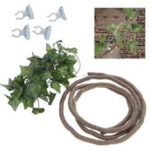 Reptile Jungle Vines Artificial Ivy Leaf Pet Habitat Decor With Suckers And Ivy Leaf For Lizard Frogs Snakes And More Reptiles(China)