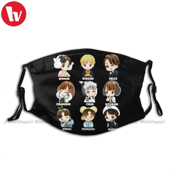 Stray Kids Mouth Face Mask KPOP STRAY KIDS CHIBI Facial Mask for Adult Fashion Beautiful with Filters Mask