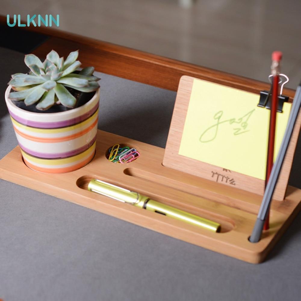 Bureau bureau bambou support de rangement créatif ordinateur bureau clavier bambou fournitures de bureau finition boîte