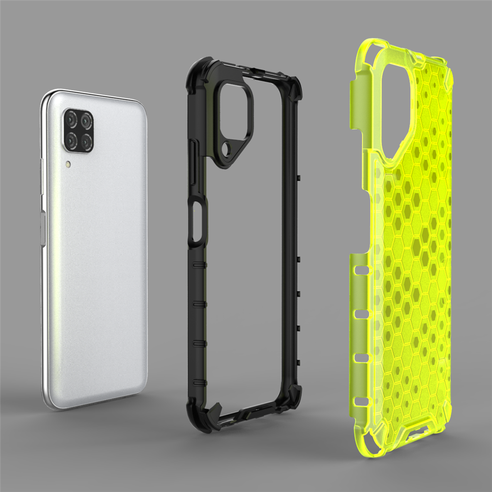 Rugged Armor Case Silver Silicone Soft Case Hybrid Dual Layer Shockproof Case Cover for Huawei P40 Lite DN-Technology for Huawei P40 Lite Case Hard Shell Armor Protective Back