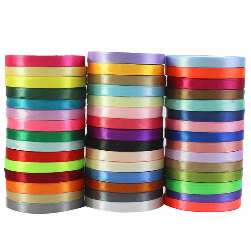 (Khoảng Cách 25 Mét/Cuộn) 1 Cm Satin Nhiều Màu Sắc Ruy Băng Sỉ Tặng Đóng Gói Trang Trí Giáng Sinh Diy Ruy Băng Cuộn Vải Sản Phẩm Mới