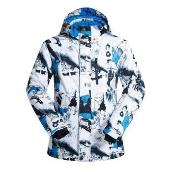 MUTUSNOW Men's Ski Jacket Waterproof Windproof Snowboarding Jacket Snow Snowboard Coat for Outdoor Camping Hiking Skiingg L