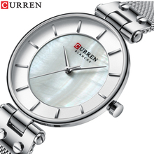 CURREN Reloj Para Dama Quartz Small Watch Silver Stainless Steel Women 2019 Simple Business Design Sport Wrist