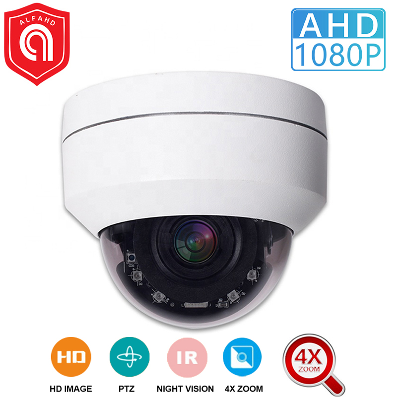 CCTV Security Outdoor 2MP Camera AHD 1080P Mini Dome PTZ Camera 4X Zoom AHD TVI CVI CVBS 4IN1 AHD Camera 2MP Dome Camera IR 45M