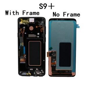 Image 4 - Tela lcd original de 2960*1440, com moldura, touch screen para samsung galaxy s9 plus, s9 + g965f, g965 digitalizador + pacote de serviço