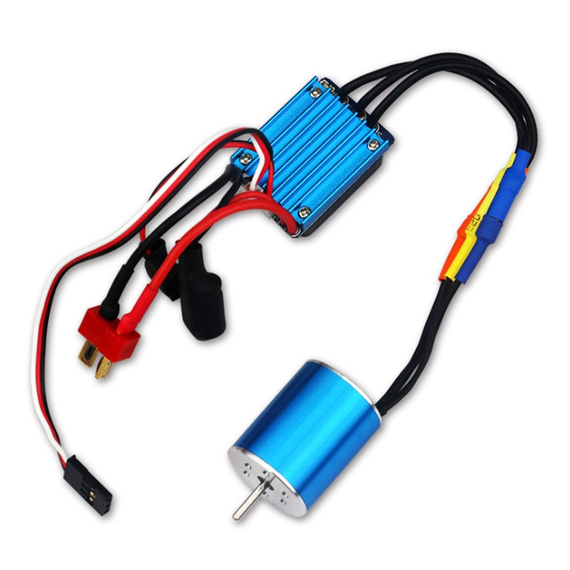 2430 7200KV Motor & 25A Brushless ESC for 1/18 1/16 HSP Redcat Traxxas HPI <font><b>Tamiya</b></font> RC On-Road Off-Road Car SCT Truck image