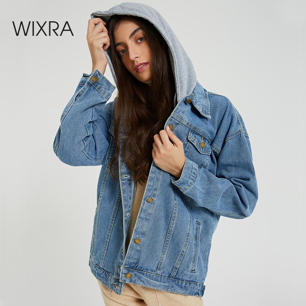 WIXRA База новинка базовый мастхэв весна зима осень лето тренд 2019 wixra модная одежда классические свободные женская мастхэв стильная повседневные гардероб сплошное куртка джинсовка джинса деним отложной воротник Куртки      АлиЭкспресс