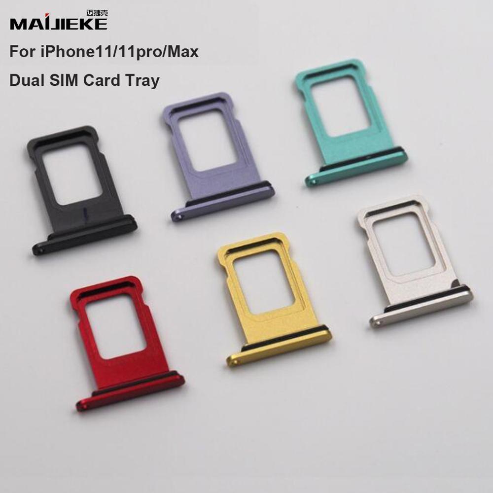 5PCS New Dual Sim Card Holder Slot Tray For IPhone 11 SIM Card Tray For IPhone 11 Pro Max Waterproof Dual SIM Card Tray