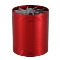 Turbina dupla turbo carregador de entrada de ar ventilador de poupança de combustível de gás para carro (vermelho)|Válvulas e peças| |  -