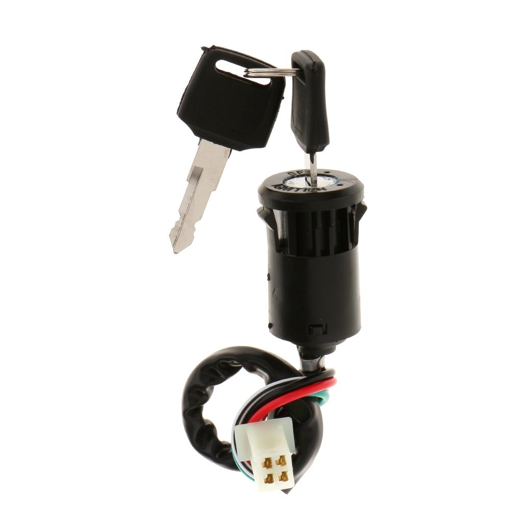 Interruptor da chave de ignição do fio de 4 pinos para o quadrilátero chinês 4 rodas atv go kart taotao sunl roketa kazuma 50cc 70cc 90cc 110cc 125cc