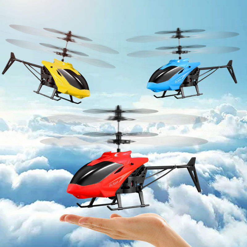 Kids Toys Mini Drone RC Flying Helicopter Aircraft With Remote Control Suspension Induction LED Light Toys For Children Boys
