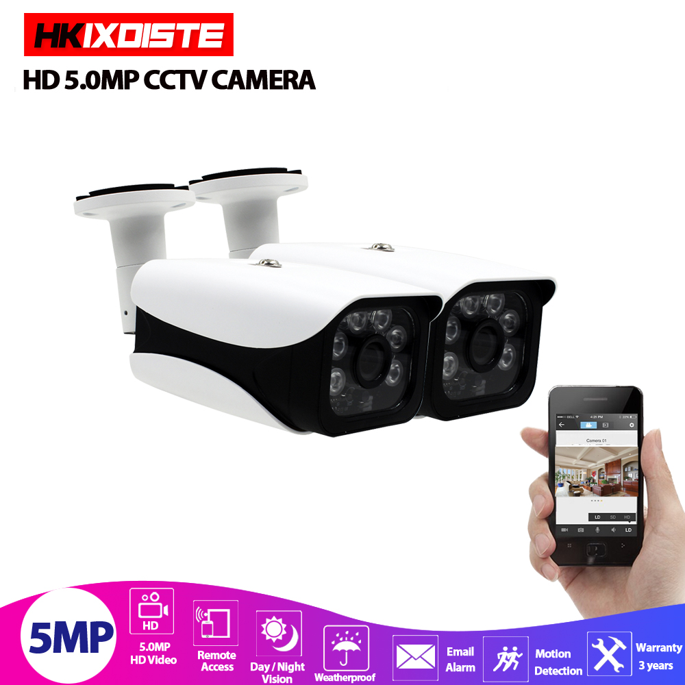 5MP Ultra HD AHD Camera Outdoor Waterproof Infrared Night Vision Onvif CCTV Video Surveillance Security P2P Email Motion Detect