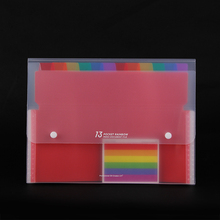 A4 rainbow expanding file folder document organizer 13 pocket accordion colored folder organizer for documents bag sorting clip
