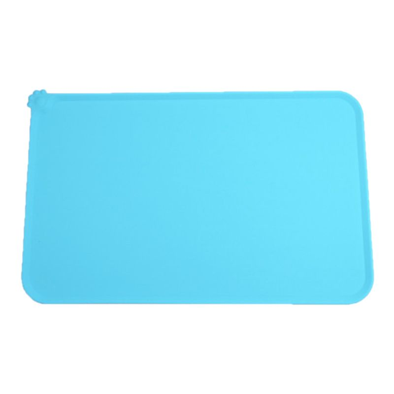 Dog Cat Food Mat Natural Silicone Feeding Placemat for Pets Dogs Bowls Pet Mat Y5GB image