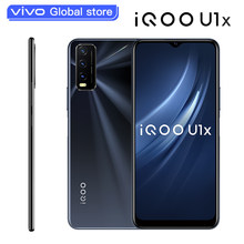 Originalo vivo iqoo u1x celular original 6g 128g snapdragon 662 5000mah bateria 18w carregamento 13.0mp triplo câmeras telefone