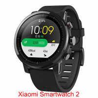 Na całym świecie Xiaomi Huami AMAZFIT Stratos GPS 5ATM wodoodporna inteligentny zegarek sportowy 2 512 MB/4 GB smartwatch dla Androida z systemem iOS