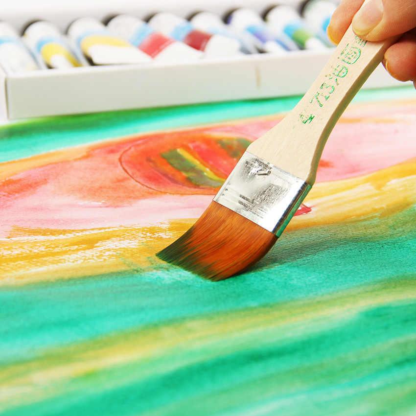 Cepillo de pintura de pelo de nailon agua acuarelas en polvo propileno diferentes pinceles de pintura de tamaño escuela arte suministro 6 estilos
