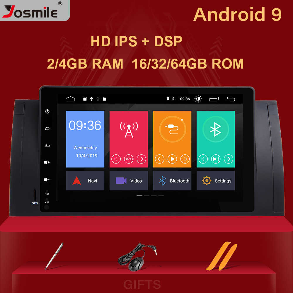 """9 """"2 din android 9.0 kit multimídia automotivo, estéreo, sem dvd player, para bmw x5 e53, bmw e39, 5 series unidade de cabeça da rádio navegação gps áudio 2g"""