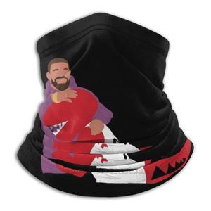Бандана с 3d рисунком Дрейка и рапторов, мягкая флисовая маска для лица и шеи, спортивный шарф с рисунком Дрейка, баскетбола, Канады, Онтарио