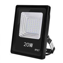 Rectangular floodlight projector color temperature 6000K, voltage (standard) | voltage (Standar) LED black 220V headlight