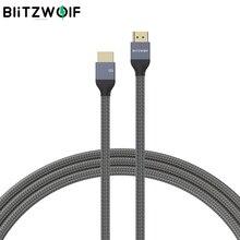 BlitzWolf BW HDC5 8K 48Gbps HDMI متوافق مع كابل HDMI متوافق 8K @ 60Hz 4K @ 120Hz 10K @ 60HZ 48Gbps نقل 30AWG سلك الأساسية