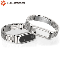 Per Mi Band 2 cinturino cinturino per Xiaomi Miband 2 Smart Watches cinturini in metallo Mi 2 per Xiomi Correas Opaska Pulseira cinturino