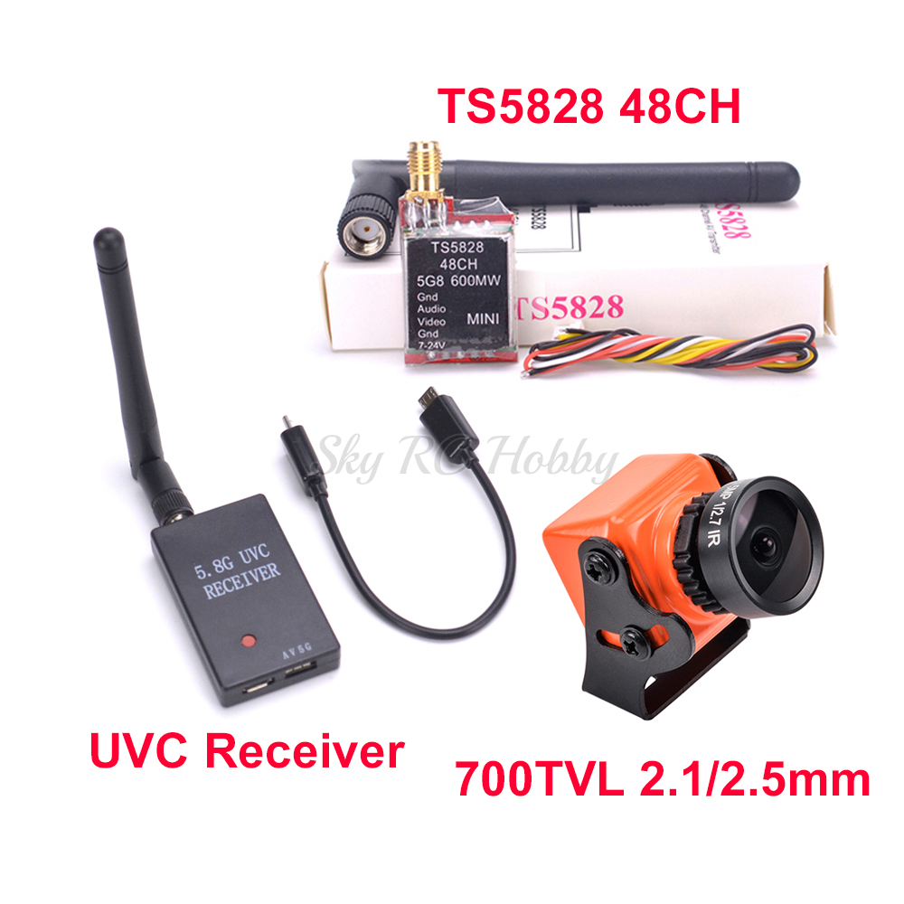 48CH TS5828 600 мВт передатчик 5,8G FPV приемник UVC видео Downlink OTG VR Android Phone мини 700TVL COMS 2,1 мм/2,5 мм Камера|Детали и аксессуары|   | АлиЭкспресс