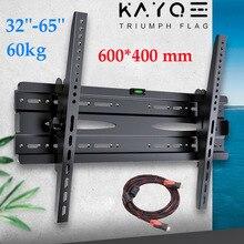 KAYQEE Universal TV Wall Mount Adjustable Ultra Slim Plasma Tilt Vesa Mount Monitor LCD LED TV Wall Bracket for 32''-65'' TV
