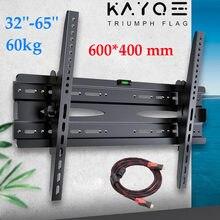 Suporte universal da parede da tevê do diodo emissor de luz do lcd do monitor da montagem de vesa da inclinação ultra magro ajustável da parede da tevê de kayqee para a tevê 32 tv 65-65 tv