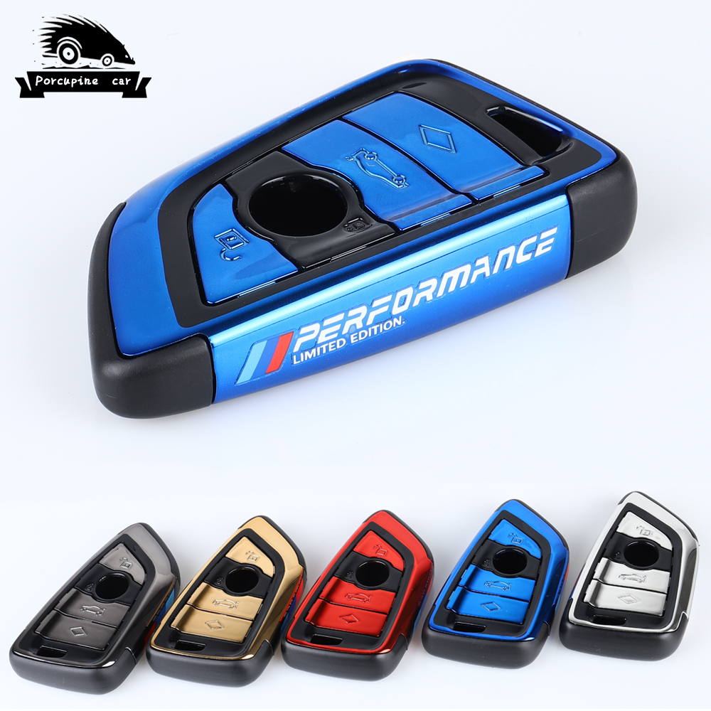 New ABS plating Car Key Case Cover M Performance For BMW X1 X3 X5 X6 1 2 5 7 F15 F16 E53 E70 E39 F10 F30 G30 Fob Shell Protecor