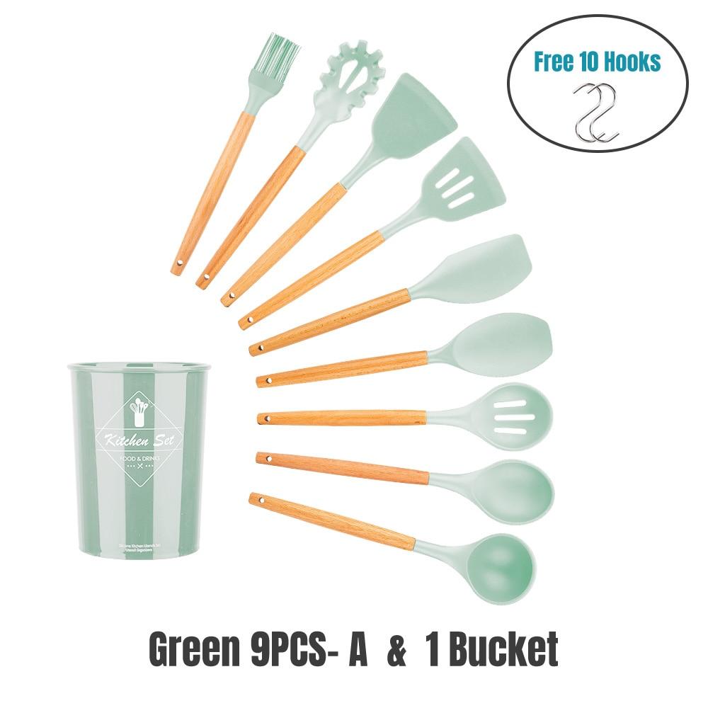 Mint GREEN 9PCS-AK