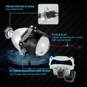 Image 2 - عدسة تلقائية 2.5 بوصة ثنائية زينون HID عالمية لـ GTl H4 H7 ، جهاز عرض للمصباح الأمامي للسيارة ، عدسة 9005 9006 H11 H8 HB3 ، ترقية