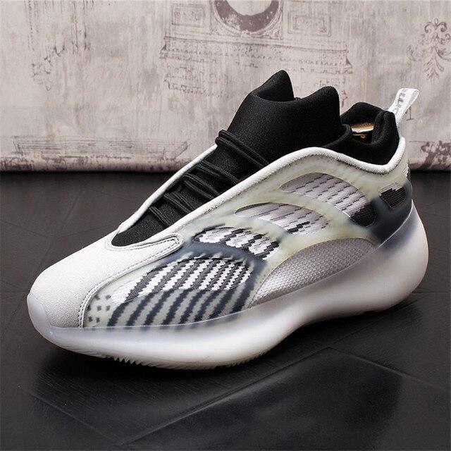 Verano de los hombres Zapatillas de deporte Hip Hop celebridad Web placa transpirables zapatos de Hombre Zapatos cada vez mayor altura Zapatillas Hombre 3