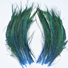 20pcs/Lot Peacock Feathers Wing 30-35cm/12-14 Peacock Decor Natural Feathers for Crafts Peacock Feather Decor Plumas Carnaval wholesale 50pcs lot natural peacock feathers for crafts 25 80cm natural peacock feathers eyes for wedding decoration plumes