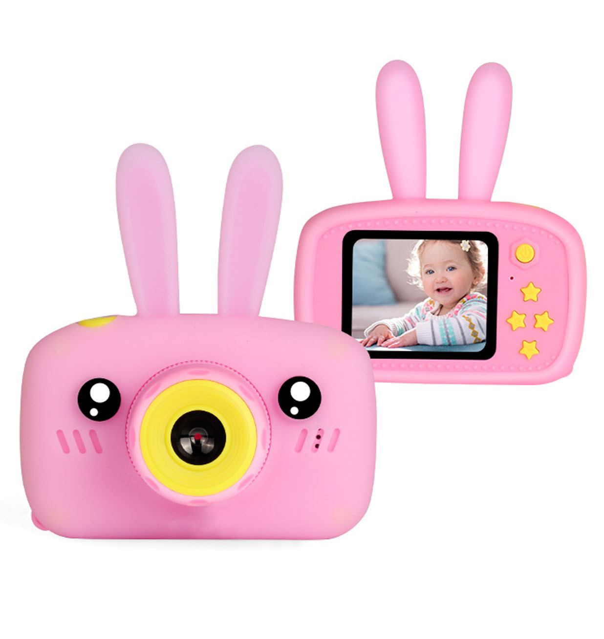 Kids Toys Rechargeable Children Digital Cameras With Rabbit Cover Camera Toys For Kids Children's Photos Educational  Z0724