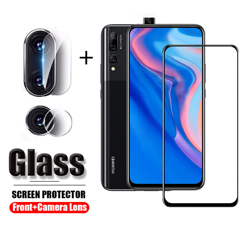 2in1 Camera Protector Glass For Huawei Y9 Prime 2019 Screen Protector Tempered Protective Glass On Huawei Y9 Prime Y9prime 2019
