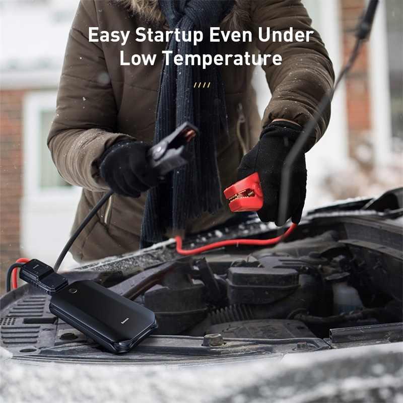 Démarreur de saut de voiture Baseus batterie externe 12V dispositif de démarrage automatique 800A batterie de démarrage de voiture