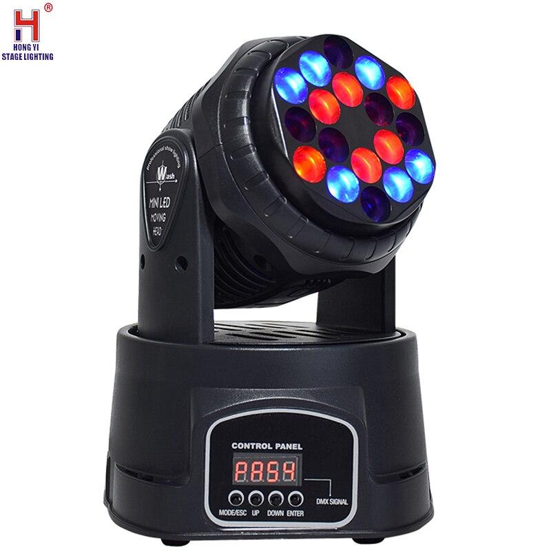 Светодиодный светильник с подвижной головкой 18x 3W, RGB, сценический светильник, dmx 512, движущаяся головка, светодиодный, хорошо подходит для