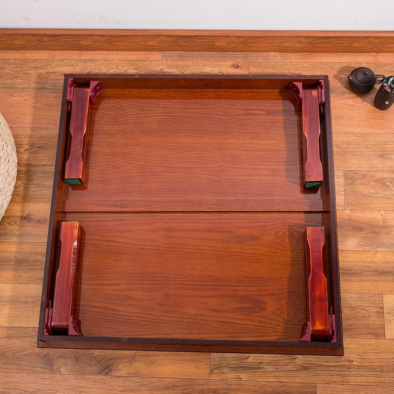 Firkantet 80X80 cm koreansk gulvbord Klappeben Luksus Antik - Møbel - Foto 4