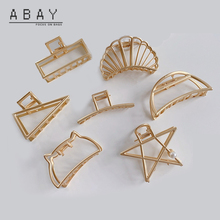 Claw Wind-Hairpin Star-Hair Women Five Versatile Cool Temperament Trend Pointed Gold