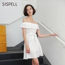 Sispell/платья с открытыми плечами для девочек; Лоскутное платье
