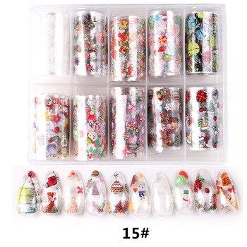 1set/lot 2.5*100cm Butterfly Spring Mix Flower Starry Sky Nail Foils set Transfer Sticker DIY Manicure Decoration Decals - 15