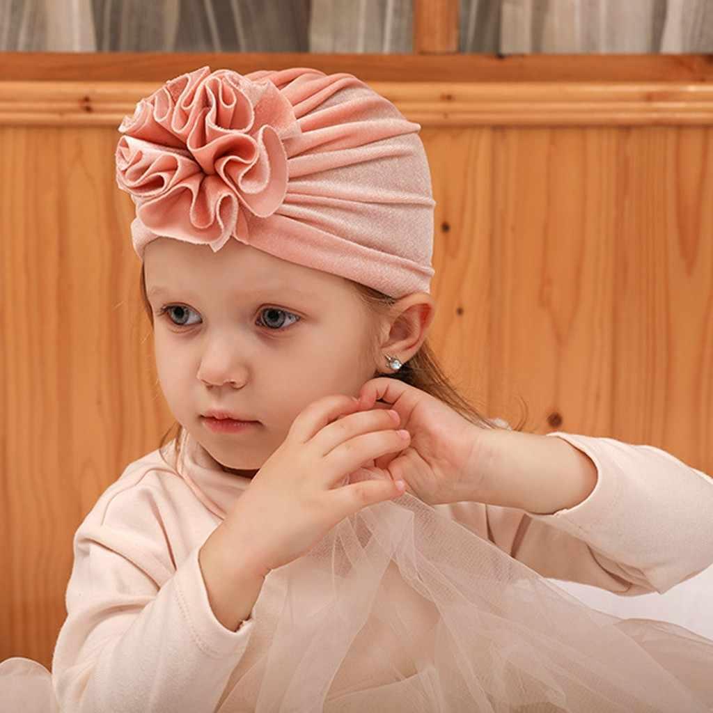 หมวกเด็กหมวกดอกไม้หมวกกำมะหยี่ทารกแรกเกิดหมวกเด็กผู้หญิงหมวกเด็กแฟชั่นเด็กน่ารักหมวกฤดูหนาวหมวก Bebe ผู้หญิง шапка 2020