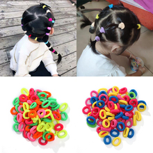 100pcs / Lot Cute Girl Rubber Band Hair Ring Accessories Color Lead With Children Wholesale
