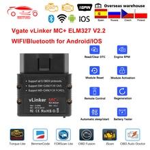 Vgate vLinker MC + ELM327 Bluetooth 4,0 WIFI Auto Diagnose Code Reader OBD2 Scanner OBD 2 Auto Werkzeug PK OBDLINK ULME 327 V 1 5