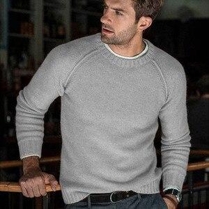 Image 5 - סתיו החורף מוצק סוודר גברים החדש מקרית Slim Fit Mens סרוג סוודרים נוחות O צוואר סריגי סוודרים גברים S 3XL למשוך Homme